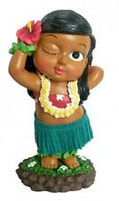 "New Hawaiian Hawaii Mini Dashboard Hula Doll Girl Keiki Posing 4"" #40684"