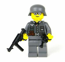 custom German WW2 wehrmacht Soldier made with real LEGO(R) MP40
