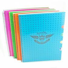 Projet A4 cahiers luled doublée de papier à lettres avec 4 code couleur diviseurs