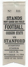 1964 College Football Ribbon Stanford University vs Oregon State