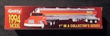 1994 GETTY Gas Gasoline Toy Tanker Truck MIB w/ Working Lights & Sounds