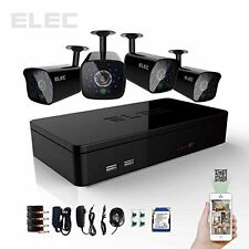 ELEC 4 Channel DVR 4 In&Outdoor Night Vision  Home CCTV Security Camera System