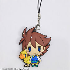 Final Fantasy V Bartz Klauser with Chocobo Rubber Phone Strap Licensed NEW