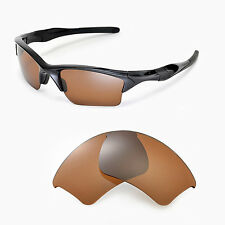 WL Polarized Brown Replacement Lenses For Oakley Half Jacket 2.0 XL Sunglasses