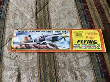 VTG. Rare New Flying Gliders Fly-with Power Prop #9 North American Mustang MK2