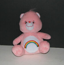 Care Bears Cheer Bear Pink Rainbow Plush Toy 9 Inches