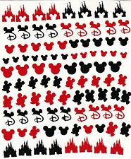 dISNEY Peel N Stick  Nail  stickers ( Black and Red )