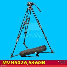 Manfrotto MVH502A,546GB-1 A 502HD Fluid Head 546B Tripod w/Ground-level spreader