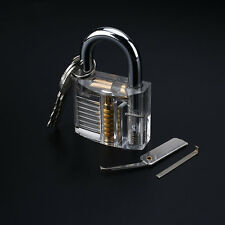 Inside View Practice Visible Padlock Locksmith Lock Pick Training Tools Set Kit