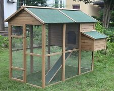 "Huge 79"" Chicken Coop Running Cage Backyard Poultry Hen House Bantam Extra Large"