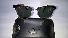 "90's VINTAGE RAY-BAN B&L U.S.A. ""CLUBMASTER TORTOISE"" W0366 & RAY-BAN SOFT CASE"