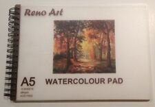 ARTIST WATERCOLOUR PAD, A5, 280GSM ACID FREE, SPIRAL PAINT PAD, PREMUIM PAPER