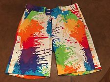 John Daly Loudmouth Paint Drop Cloth Splatter Golf Shorts Mens Sz 36 Worn Once!