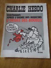 CHARLIE HEBDO N°106 AVORTEMENT MEDECIN BEBE MORT  REISER 27 nov 1972   WOLINSKI