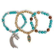 LUCKY BRAND Sea Life Beaded Bracelet Set of 3 JLRY0738 NWT  Turquoise Charms