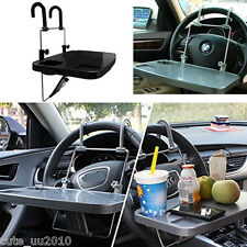 Car steering wheel front seat back folding computer desk dining table cup holder
