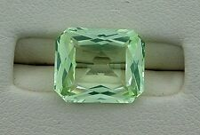 12x10 Fancy Emerald Octagon Chrysoberyl Citrine Color Lab Corundum Gemstone 6270