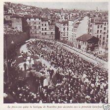 1943  --  LYON  PROCESSION A FOURVIERES  C309