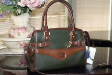 NWT BEAUTIFUL RARE!  Vtg DOONEY & BOURKE AWL IVY GREEN /DK BROWN BUCKLE SATCHEL