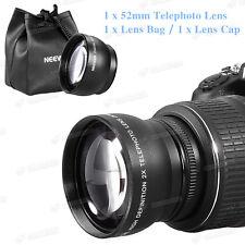52mm 2X Magnification Tele Telephoto HD Lens For Nikon D7000 D5100 D3100 D90 D80