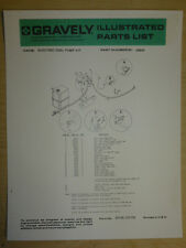 GRAVELY FUEL PUMP ILLUSTRATED PARTS LIST MANUAL, PART #24643