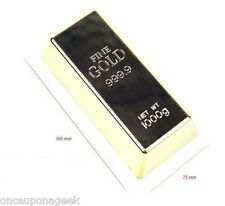 Gold Bar Door Stop / Gold Bar Bullion Stopper Brick Paperweight
