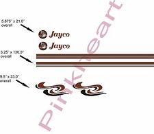 "Custom Pop up decal kits jayco stripe kit RV trailer boat graphics 130"" USA made"
