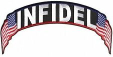 INFIDEL US Flags USA Embroidered Motorcycle Rocker Back Biker MC Patch LRG-0577