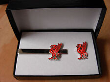 Liverbird tie clip and pin badge set. Boxed. Ideal gift. Liverpool