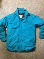 LL Bean vtg DOWN insulated mens winter Light Weight ski coat Medium Teal warm