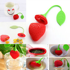 Silicon Strawberry Shape Cute Creative Tea Leaf Strainer Herbal Spice Infuser