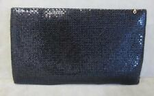 Whiting and Davis Black Metal Mesh Evening Clutch / Cosmetic Bag or Small Purse