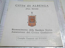 CITTA' DI ALBENGA RICONOSCIMENTO BANDIERA STORICA CIVICO GONFALONE 1978 L-5