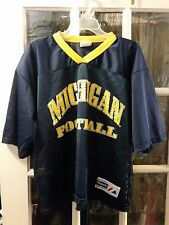Vintage Michigan Wolverines Majestic Football Jersey Adult Large Brady Harbaugh