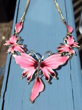 BETSEY JOHNSON PINK FAIRY SPARKLE BUTTERLY NECKLACE & EARRINGS