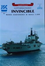 British Aircraft Carrier Invincible Paper Cardboard Waterline Model Scale 1:400