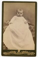Cabinet Photo - Cute Baby In Long Gown-Indianapolis, Indiana-Big Eyes / Close Up