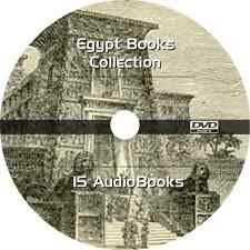* EGYPT EGYPTIAN BOOKS COLLECTION  * 15 AUDIOBOOKS on DVD MP3 FORMAT *