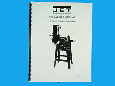 Jet   JSG-6DC  Disc/Belt Sander Owners  Manual *196