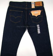 Levis 501 Jeans Original Mens New Size 36 x 34 VERY DARK BLUE Button Fly NWT