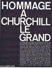 COUPURE DE PRESSE CLIPPING 1965 Hommage à  Winston Churchill  (68 pages)