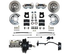 1967-69 Ford Mustang, Mercury Cougar Front Disc Brake Conv Kit (power)