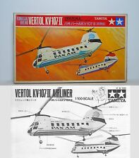 RARE Tamiya 1/100 Boeing Vertol 107 Pan Am New York Airways Helicopter Kit
