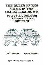 The Rules of the Game in the Global Economy : Policy Regimes for...