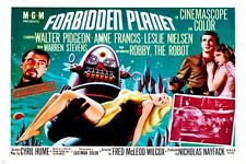 FORBIDDEN planet MOVIE poster leslie NEILSEN anne FRANCIS campy hot 24X36