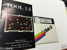 POOL 1.5 IDSI 1981 HIRES Table  Game Apple ii II Plus iie old Vintage