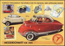 Old Print.  1955 Messerschmitt KR200 - Auto Advertisement