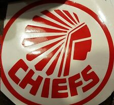 12 inch circle Kansas City Chiefs  NFL Football Vinyl Decal , red or black