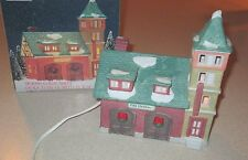Holiday Expressions~Dickens Collectibles Porcelain Lighted House-Fire Station