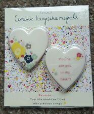 Two Marks and Spencer Ceramic Keepsake Magnets - Brand New - Lovely Gift